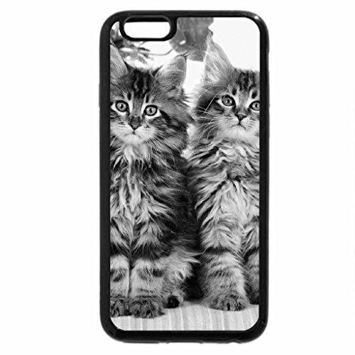 iPhone 6S Case, iPhone 6 Case (Black & White) - Cut Cats