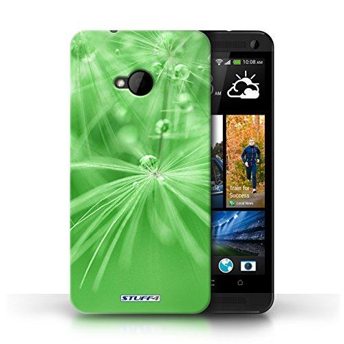 Etui / Coque pour HTC One/1 M7 / Fleur Vert conception / Collection de Gouttes de Fées