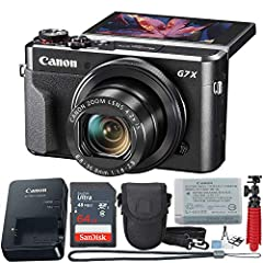 Combining professional-level photography within a slim body, this Canon Powershot camera gives you the best of DSLR photography with compact camera convenience. A 20.1-megapixel CMOS sensor and DIGIC 7 processing deliver fabulous photos, and ...