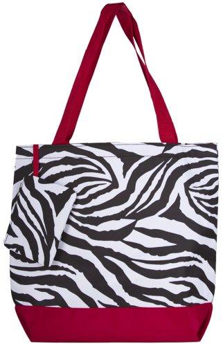 Ever Moda Zebra Large Tote Bag -