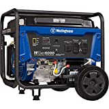 Westinghouse WGen6000 Portable Generator with Electric Start - 6000 Rated Watts &...