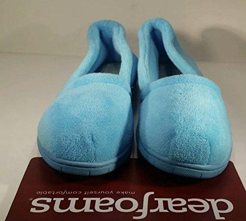 Pantofole Donna In Microfibra Di Spugna Blu Chiuso Pantofole Taglia M (7-8)
