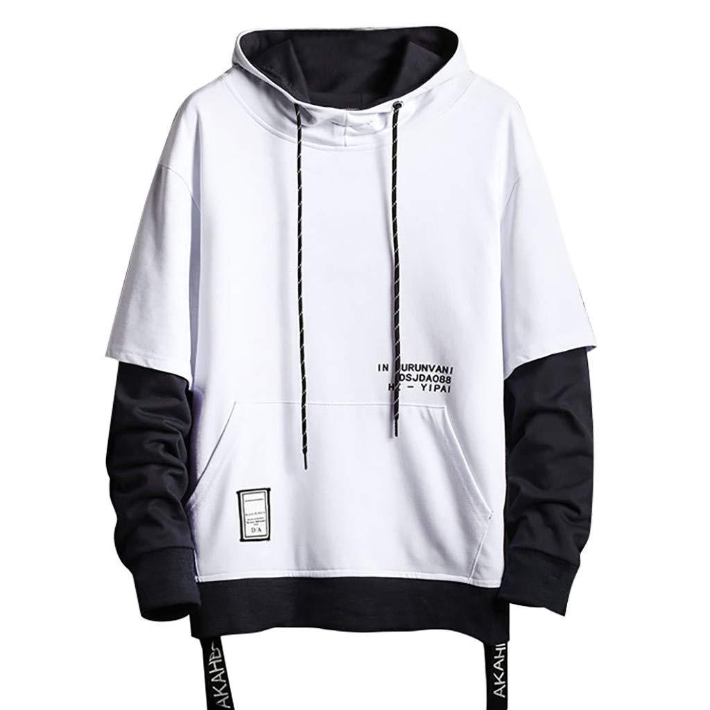 Workout Hoodies for Men,Men's Patterns Print 3D Sweaters Fashion Hoodies Sweatshirts Pullover White by Vickyleb Men Sweatshirts