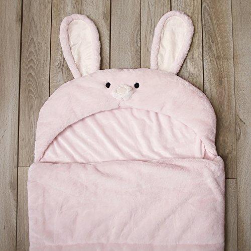 Toddler Sleeping Bag Kids Plush Bunny Rabbit Faux Fur Gift Slumber Bag (Pink) by BearBag (Image #3)