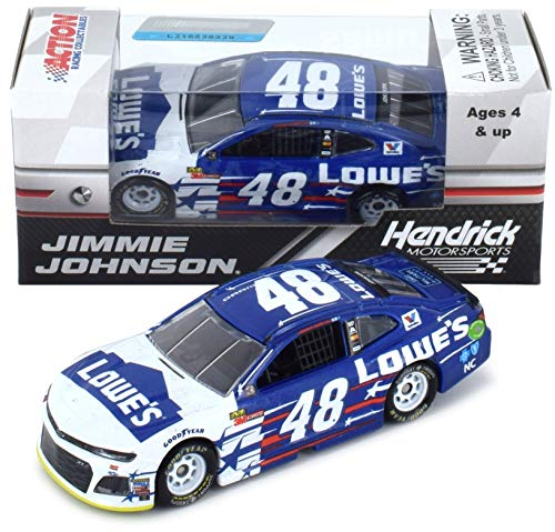 Lionel Racing Jimmie Johnson 2018 Lowe's Patriotic NASCAR Diecast 1:64 Scale