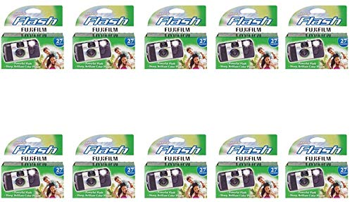 Fujifilm Quicksnap Flash Disposable Camera 35mm Film Single Use 800 ISO (10 -Pack)