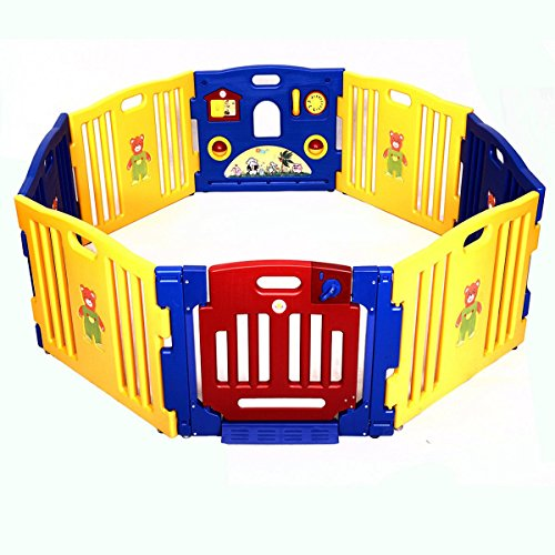 Giantex 8 Panel Kids Playpen Play Center Safety Yard Pen Baby