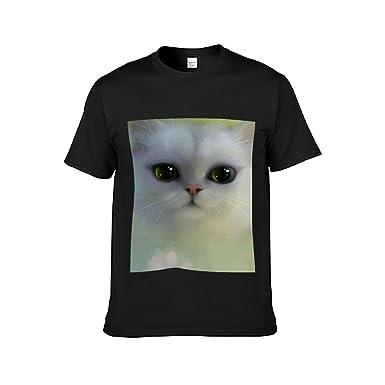 WYCG Camiseta de Manga Corta de Gato Lindo para Mujer ...