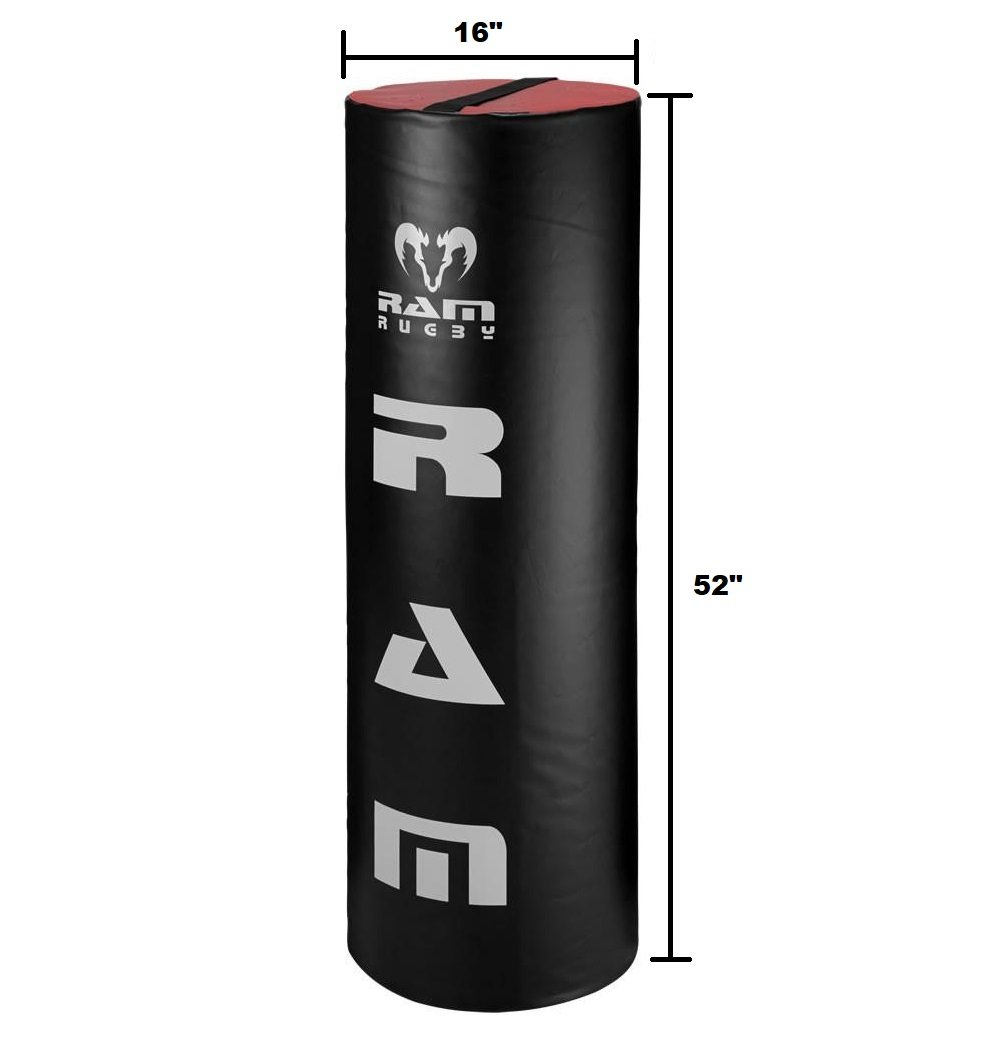Ram Rugby Tackle Bag - Youth - 33lbs - 52'' Tall - Red/Black PVC Cover - High Density Foam Core by Ram Rugby (Image #2)