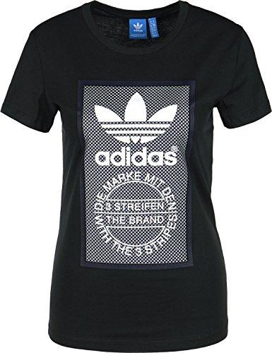 adidas TL Slim W Camiseta negro gris blanco
