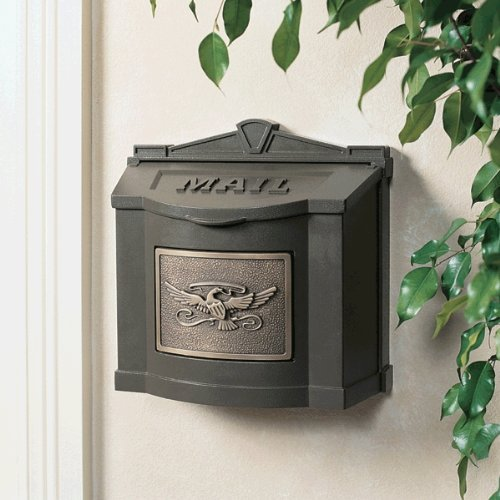 Gaines Wm WallMount Mailbox, Eagle Design Wm5, Bronze/Antique Bronze