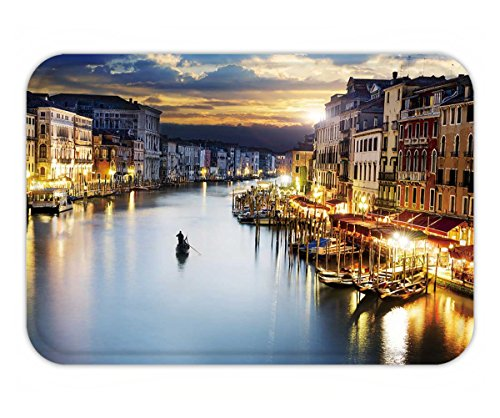 Beshowere Doormat famous grand canale from rialto bridge at blue hour venice - Beach Venice Hours