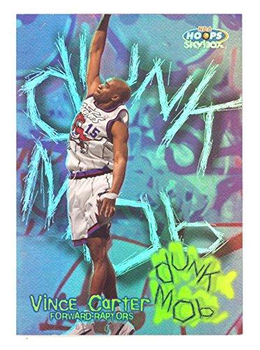 1999-00 Hoops Vince Carter Dunk Mob Insert Rare 1:144 Basketball Card #DM8 Toronto Raptors Memphis Grizzlies
