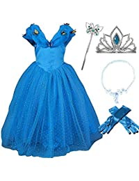 Romydeals Romy's Collection Cinderella Butterfly Party Dress Up Costume w/accessories