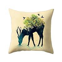wintefei Cartoon Animal Lion Throw Pillow Case Cushion Cover Home Sofa Decor?-1#