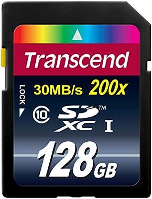 Transcend TS128GSDXC10 - Tarjeta de Memoria SDXC de 128 GB (Clase 10)