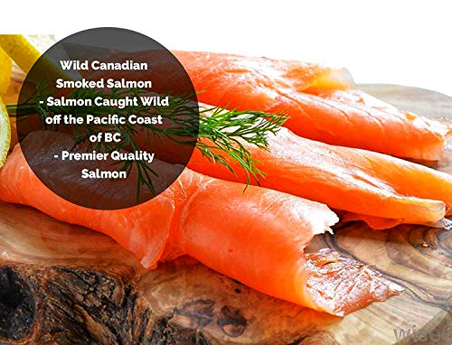 Smoked Salmon Sockeye Lox Cold Smoked Wild Caught Pacific Canadian Fish Sliced 16 oz