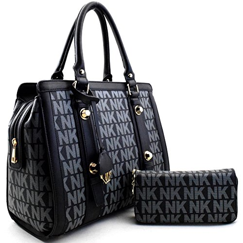 "'nina Karina"" Nk Signature Satchel Set Black"