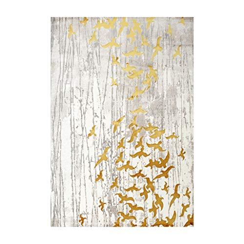 Xiao Hong Home Alfombras Hogar Alfombra Sala de Estar Sofá Mesa de Centro Manta Dormitorio Cabecera Rectangular Pájaros de...