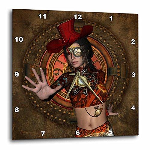 3dRose Heike Köhnen Design Steampunk – Beautiful mystical steampunk women – Wall Clocks