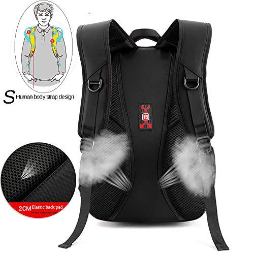 Split Front Body Bag Backpack Handbags Charging Black Qztg Classic Men's Bags School Large Tote Cloth Cross Oxford Handbagusb Capacity vSWqwxfz