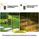 2-Pack Solar Hanging Lantern Outdoor, Metal Hollow