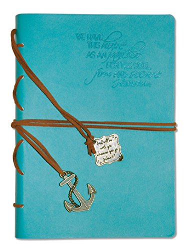 Divinity Boutique Journal, Hope as an Anchor with Aqua Charm (22875)