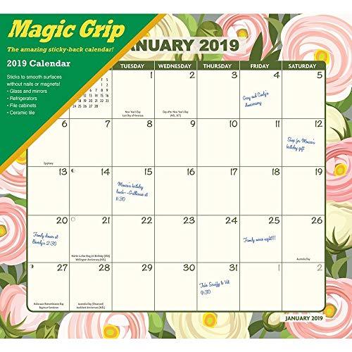2019 Floral Jumbo Magic Grip Wall Calendar, Nature by Calendar ()