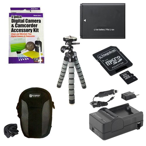 Samsung WB35F Digital Camera Accessory Kit includes: SDBP70A Battery, SDM-1516 Charger, U09371 Memory Card, SDC-22 Case, ZELCKSG Care & Cleaning, GP-10 Tripod