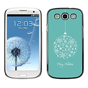 FECELL CITY // Duro Aluminio Pegatina PC Caso decorativo Funda Carcasa de Protección para Samsung Galaxy S3 I9300 // Merry Christmas Holidays Winter