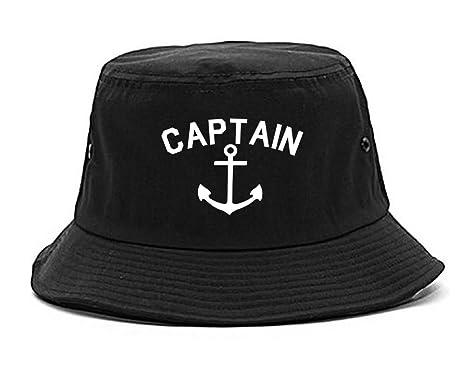 085dfbafebd Amazon.com  Sailingtain Anchor Bucket Hat Black  Clothing