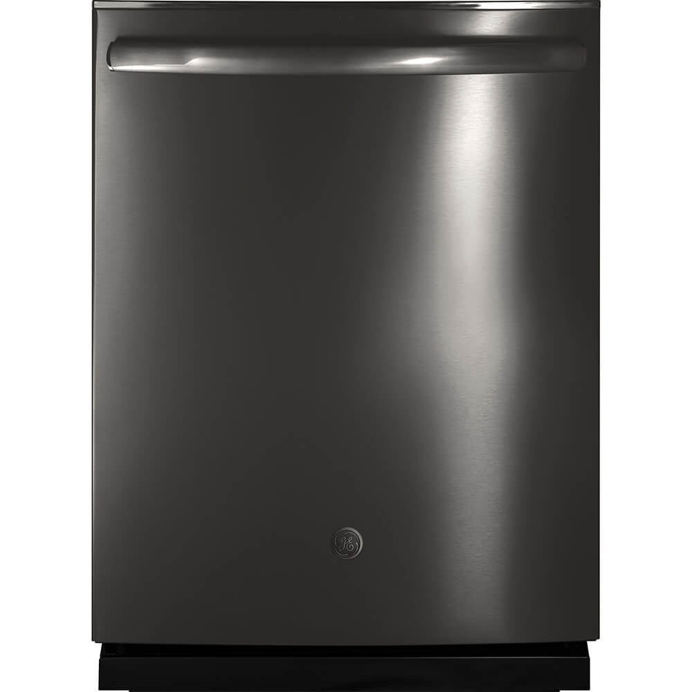 """GE GDT695SBLTS 24"""" Energy Star Rated Built-in Dishwasher with Fully Integrated Control, Additional Third Rack, 16-Place Settings, in Black Stainless"""