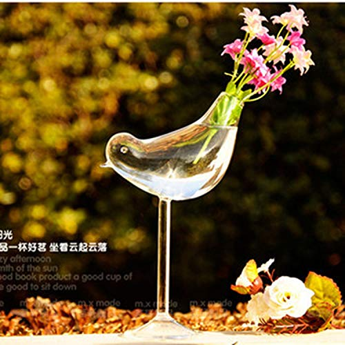 superior-shop High end Creative Tall Bird vase Glass vase Home Decoration Hotel Decor Flower containers Wedding Decoration Gift Couple Gifts,A