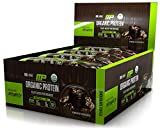 MusclePharm Organic Protein Bar, Certified USDA Organic, 15g Plant Based Protein, No Artificial Ingredients, Gluten Free, Non GMO, Chocolate Toffee, 12 bars
