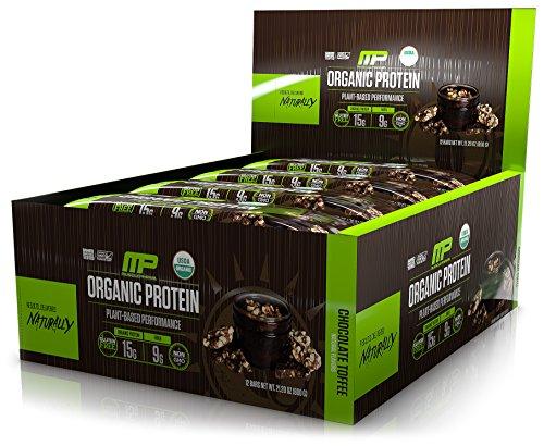 MusclePharm Organic Protein Bar, Certified USDA Organic, 15g