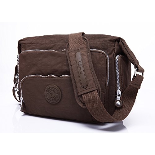 Pack Women For Satchel Bookbag Foino Bag Body Girls Sport Travel Cross Shoulder Designer Side Brown Crossbody Messenger Fashion qwS7wvt