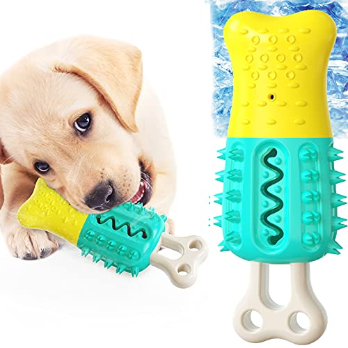Dog Teether Cooling Chew Toys, Premium Pet Teething Toy for Puppies, Ice Freeze Interactive Chewers Dog Toy in Summer, Cooling Frozen Puzzle Pet Treat Training Tools for Small Medium and Large Dogs