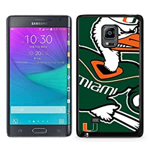 Beautiful Samsung Galaxy Note Edge Cover Case ,Newest And Durable Designed Case With NCAA Atlantic Coast Conference ACC Footballl Miami (FL) Hurricanes 3 Black Samsung Galaxy Note Edge Case Unique And Cool Phone Case