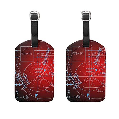 Set of 2 Luggage Tags Mathematical Formula Suitcase