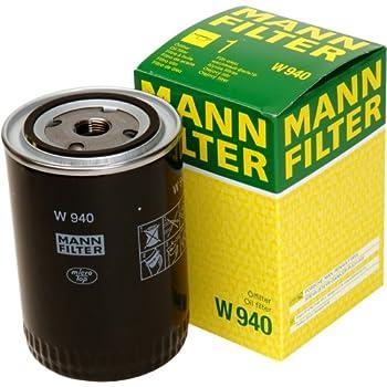 mann filter w 940 spin on oil filter automotive. Black Bedroom Furniture Sets. Home Design Ideas
