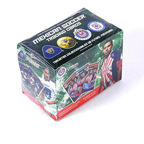 2009 - 2010 Official Licensed Mexican Soccer Trading Card Box. 25 Packs. Chivas De Guadalajara . Club America . Pumas . Cruz Azul by IMAGICS