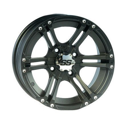 ITP SS ALLOY SS212 Matte Black Wheel with Machined Finish (12x7''/4x110mm) by ITP