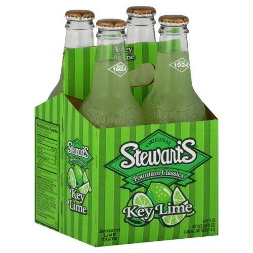 Stewart's Fountain Classics Soda 12 Fl Oz 4 Ct (Pack of 2) (Key Lime)