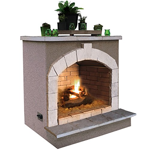Cal Flame Fire FRP-906, 55,000 BTU Gas Outdoor Fireplace by Cal Flame