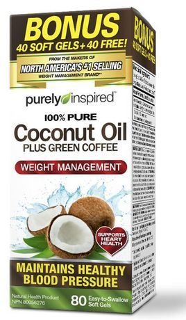 Purely Inspired 100% Pure Coconut Oil with Green Coffee, ...