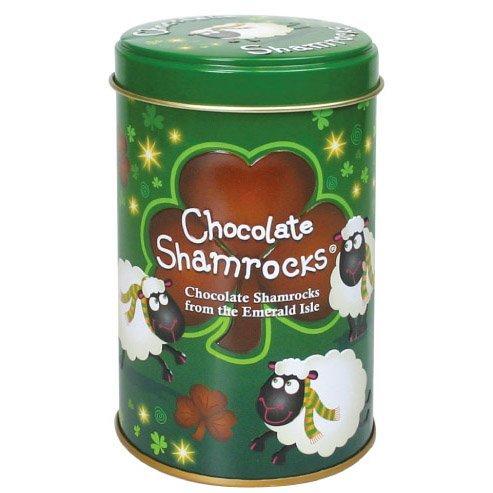 Chocolate Shamrocks in Can