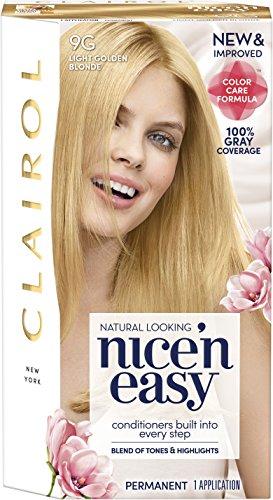 Nice 'n Easy Permanent Color 9G Light Golden Blonde 1 ea (Dark Copper Hair Color With Blonde Highlights)