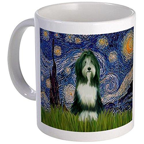 CafePress Starry Night/Bearded Collie Mug Unique Coffee Mug, Coffee Cup ()