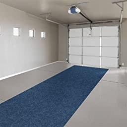 Indoor/Outdoor Carpet with Rubber Marine Backing - Blue 6\' x 10\' - Several Sizes Available - Carpet Flooring for Patio, Porch, Deck, Boat, Basement or Garage