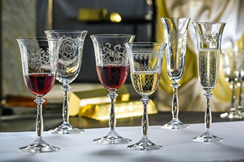 Buy etched wine glass set